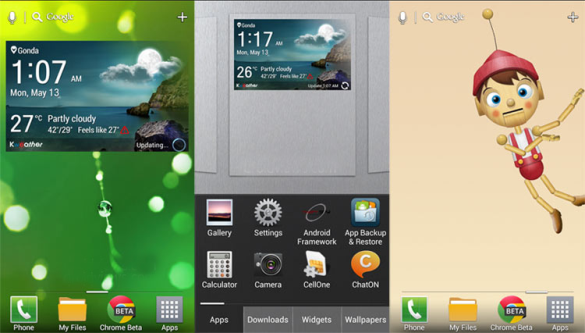 Download LG Optimus G Pro Launcher apk, Widget and Live