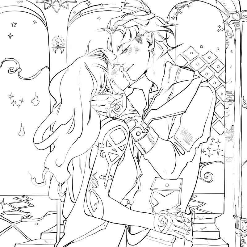 Page from the TMI colouring book