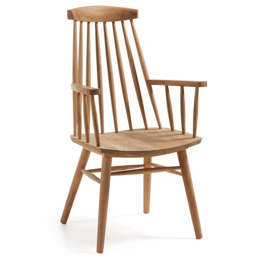 Bayonel Teak Wood Armchair Featuring A Unique Transitional Design The Bayonel Teak Wood Armchair Offers An Organic Charm Th Esszimmerstuhle Stuhle Stuhl Holz