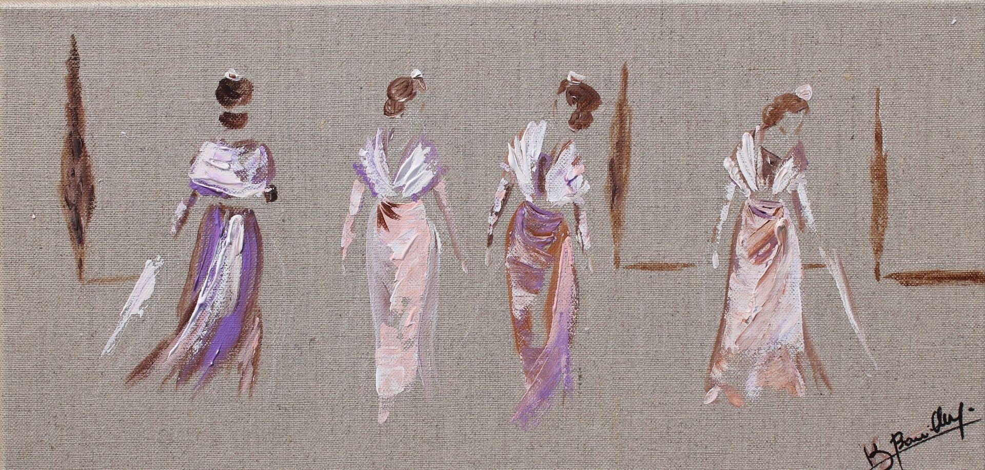 peinture arl siennes toile sur lin cr ation 2014 peintures par kaobourillon toiles et. Black Bedroom Furniture Sets. Home Design Ideas