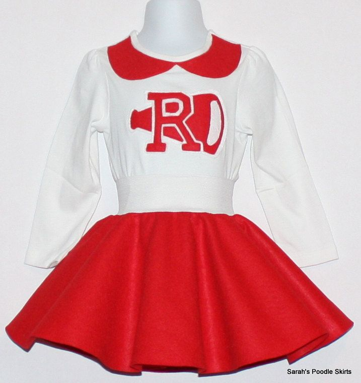 7c595c0eabc5 Adorable 50's style 2pc Rydell High Cheerleader Outfit Your Choice ...