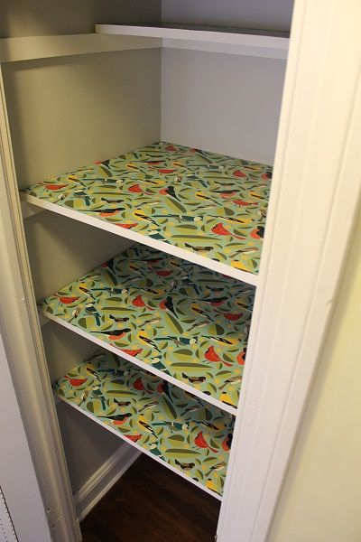 Mod Podge Wrapping Paper Shelf Liner Home Diy Home