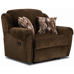 Summerlin Snuggler Recliner With Rolled Arms And Nailhead