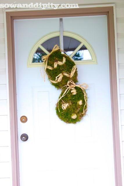 Moss #Easter #Door Decor- #DollarStore Genius Idea