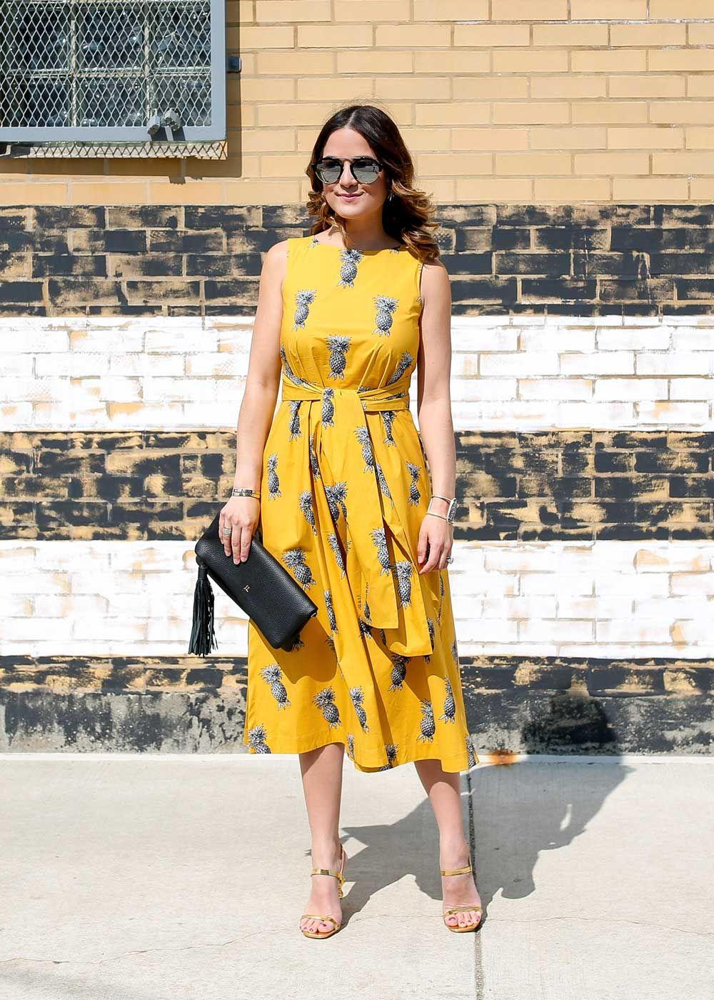 Taylor Pineapple Dress