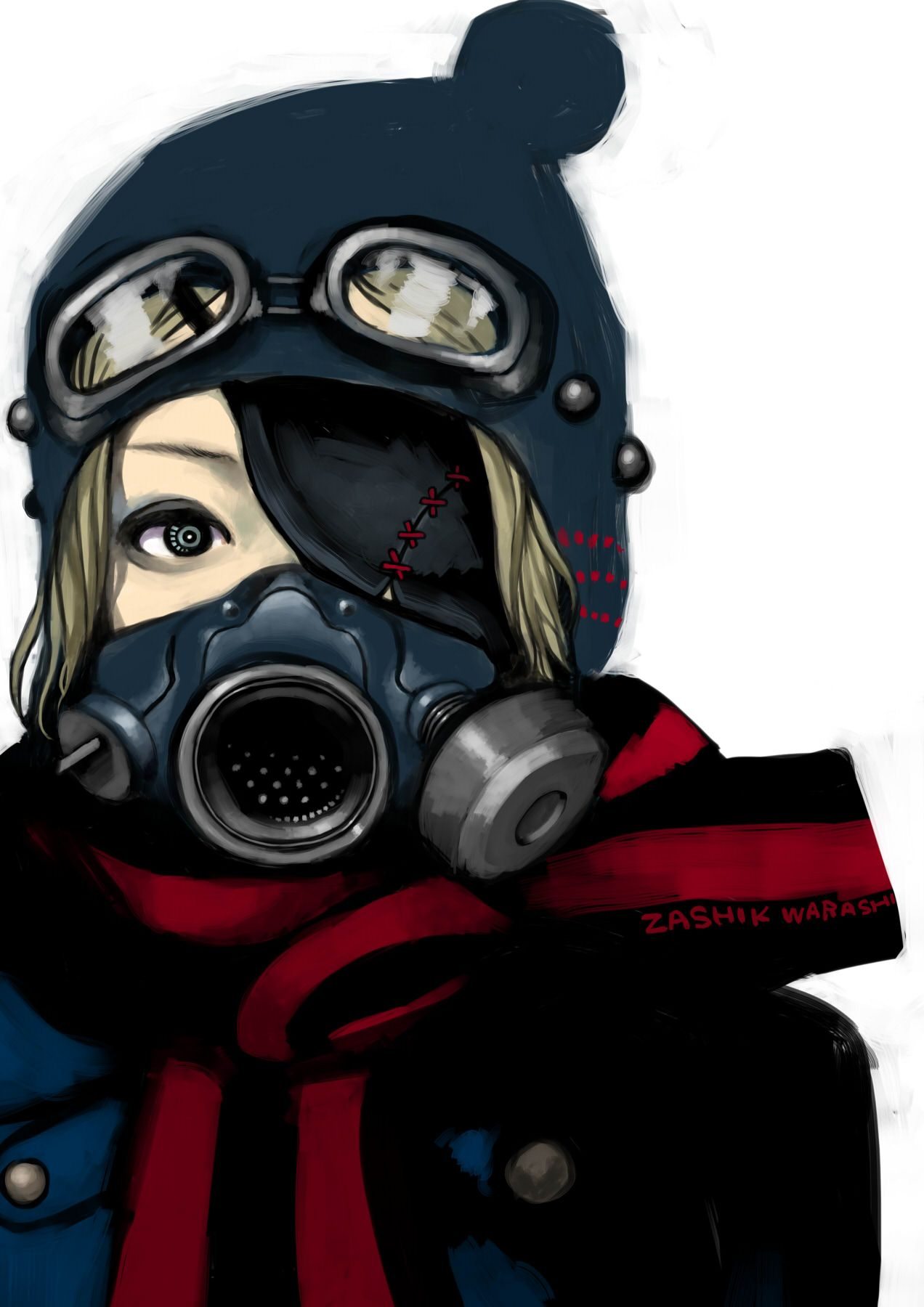 Ignore the camera eye harley ally cosas para ponerme - Anime girl with gas mask ...