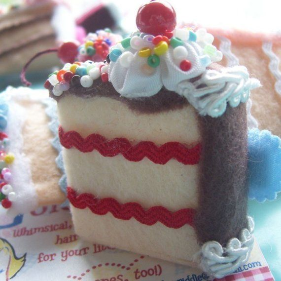 Vanillastrawberry Birthday Cake Slice By Goldilocksbarrettes 850
