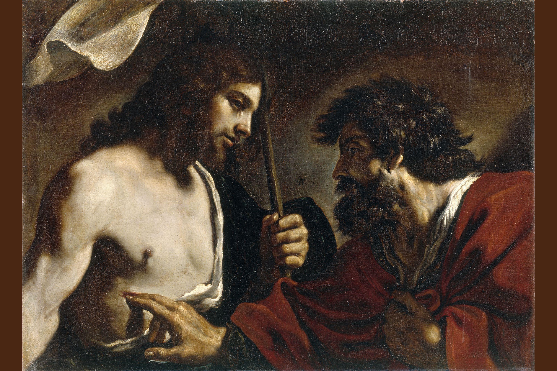 DOUBTING ST THOMAS APOSTLE OF JESUS RESURRECTION PAINTING BIBLE ART CANVAS PRINT