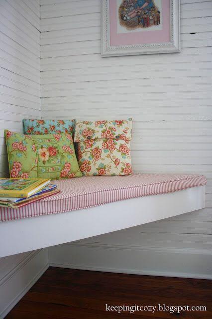 Purple Bedroom Bench: Keeping It Cozy: A Girl's Farmhouse Bedroom