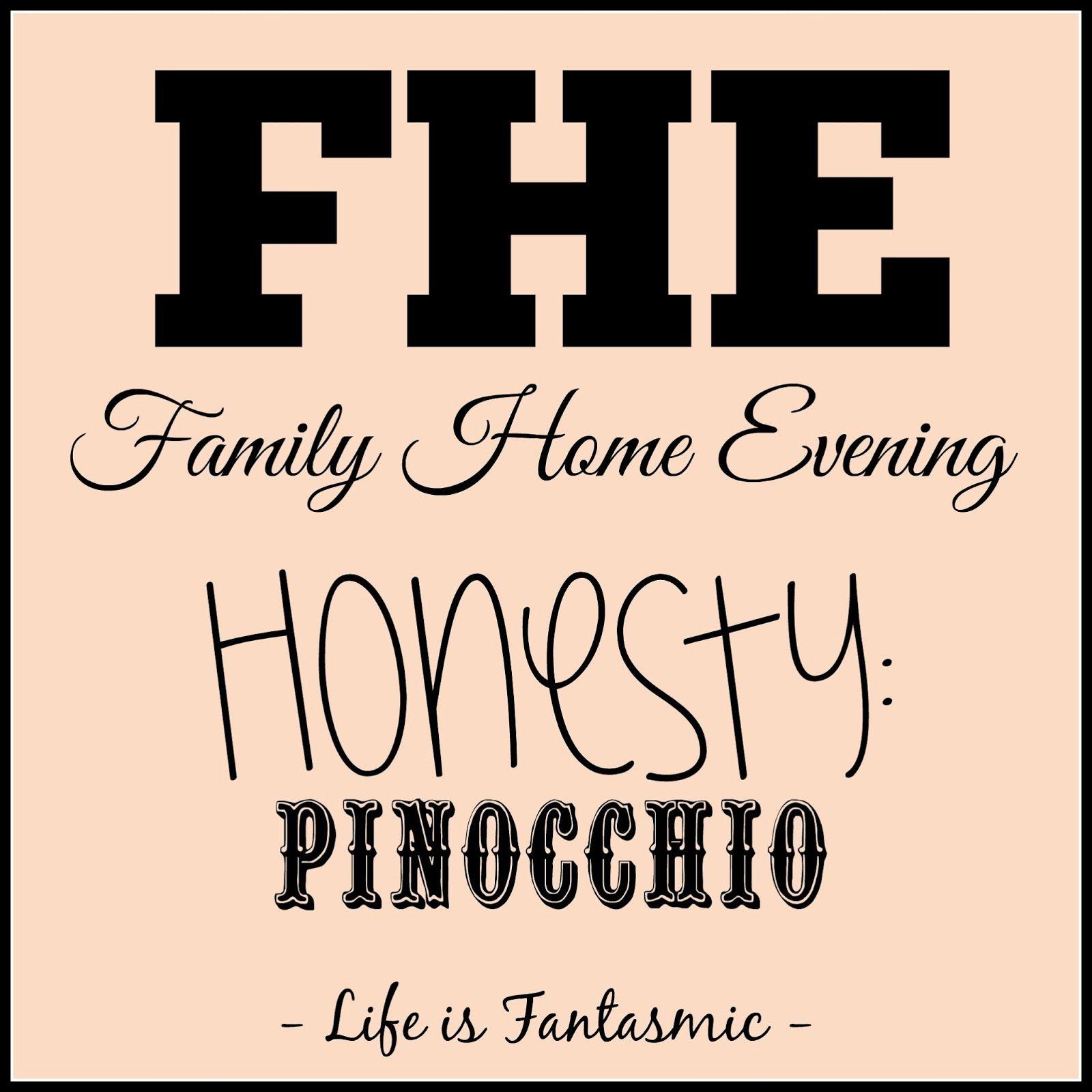 life is fantasmic fhe honesty pinocchio fhe ideas pinterest