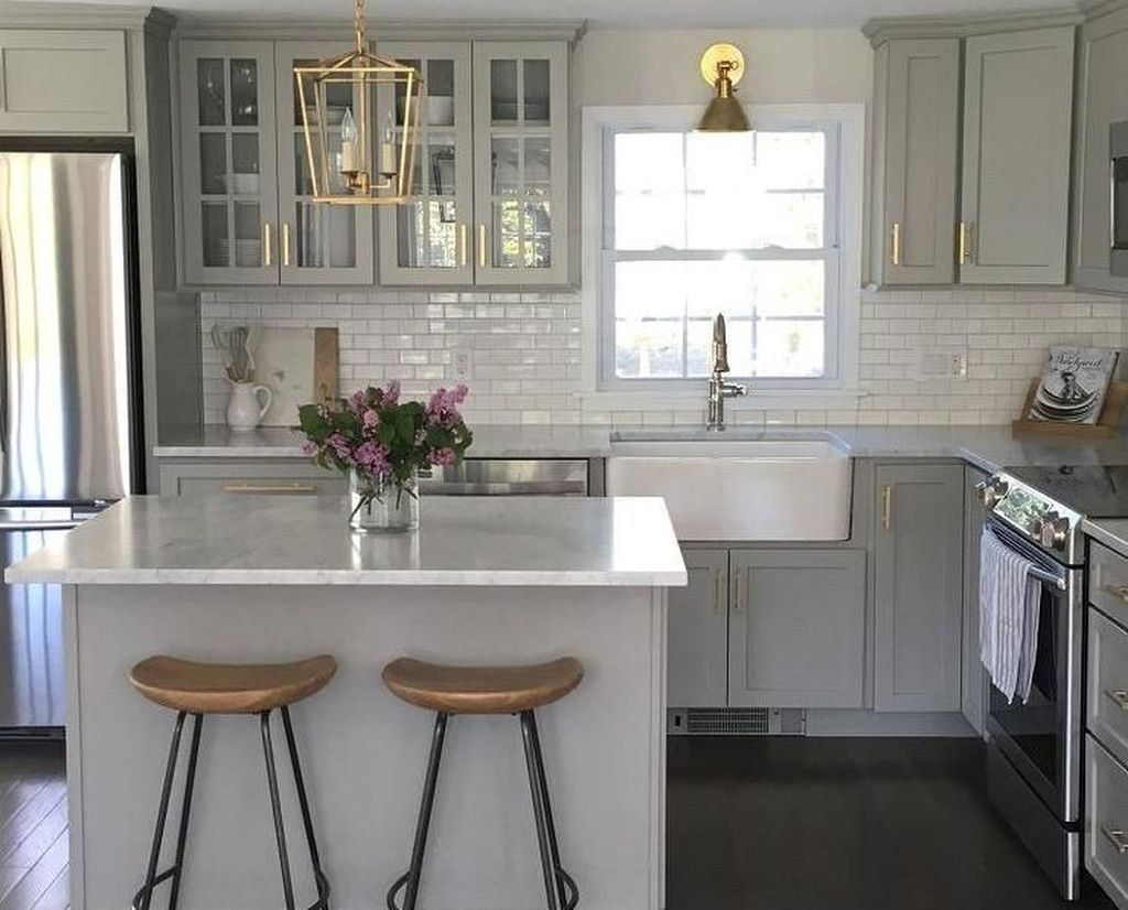 49 Elegant Small Kitchen Ideas Remodel #smallkitchenremodeling