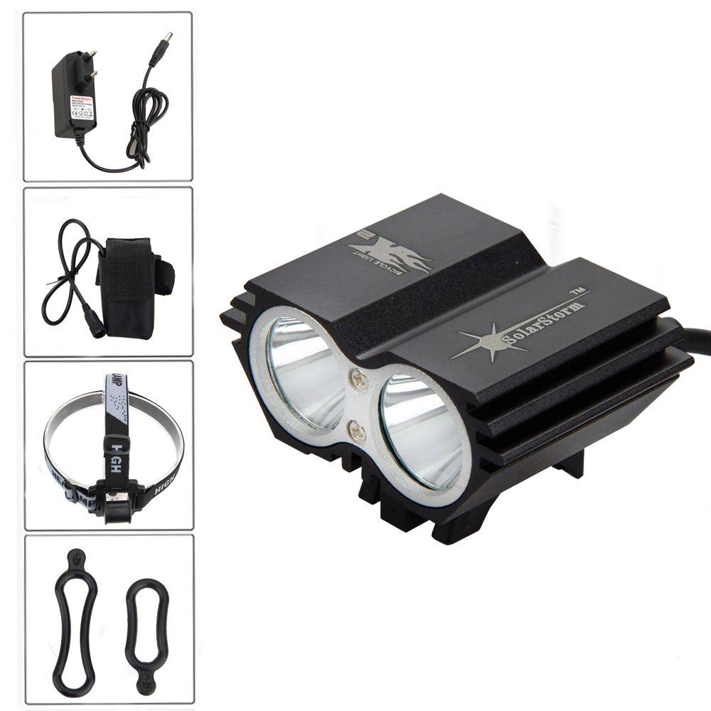 SolarStorm 8000 Lumen 2x T6 LED Bicycle Light Bike Lamp Headlamp Headlight