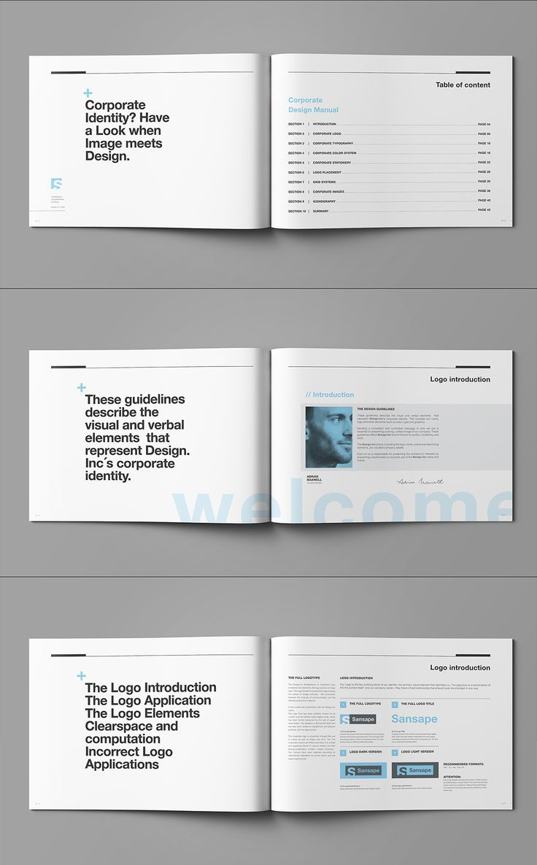 Resultado de imagem para adobe indesign template manual   Identity ...