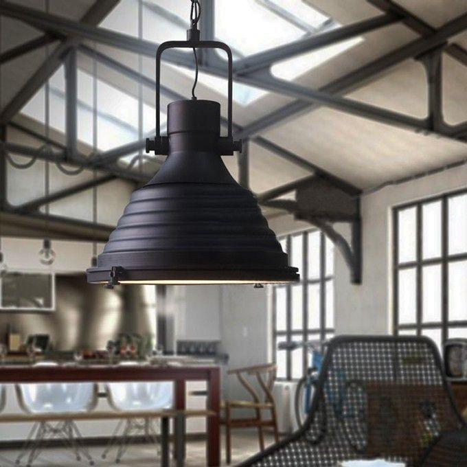 classica industriale in stile antico lampadario in ferro battuto loft lampada a sospensione con ...