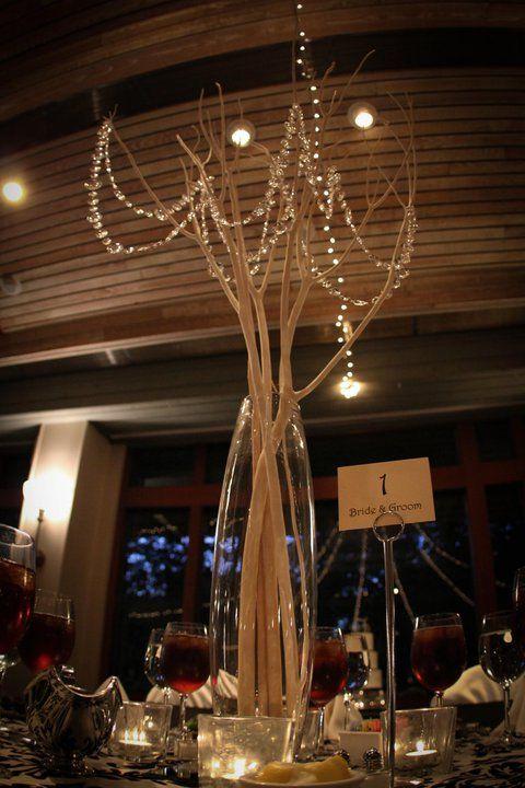 DIY crystal wedding tree centerpieces