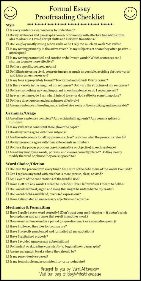 Essay Checklist