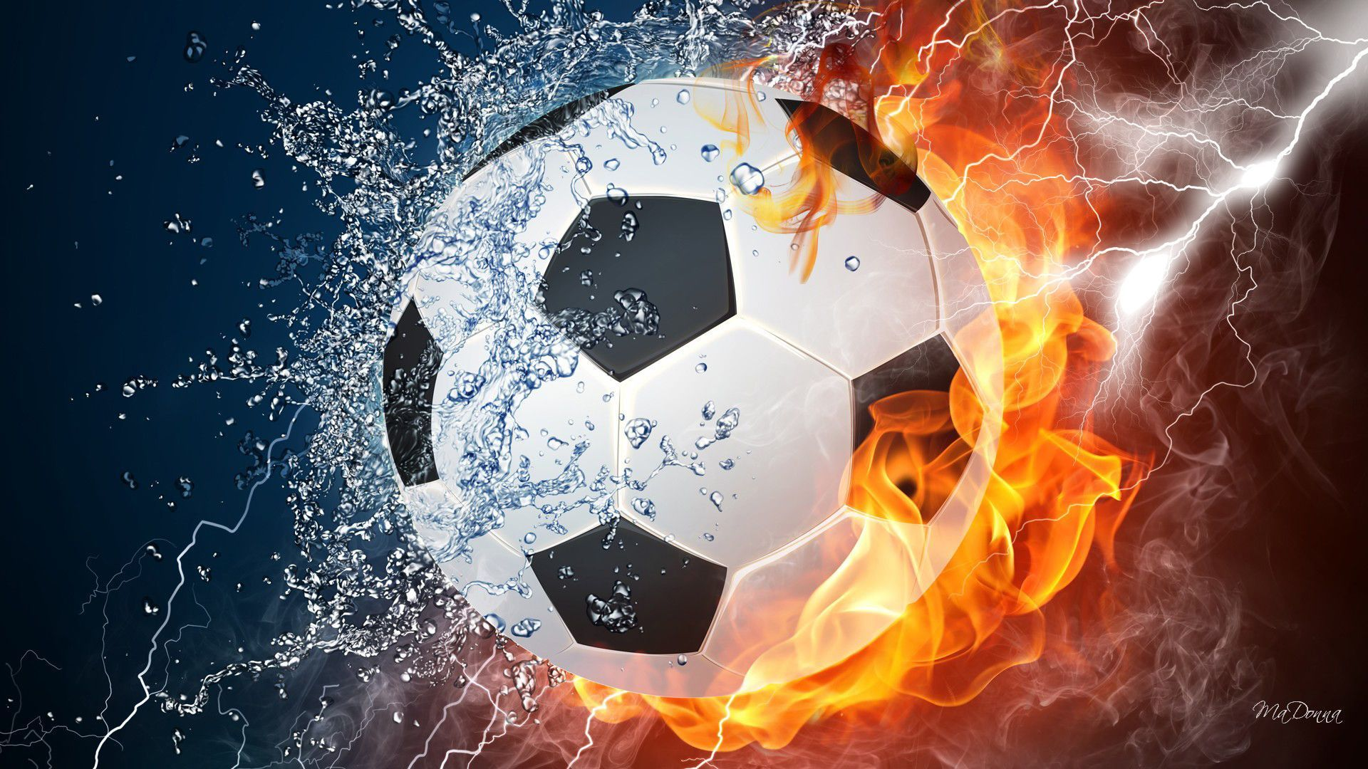 Cool Fire Backgrounds Wallpaper Cave Soccer Ball Soccer Balls Soccer
