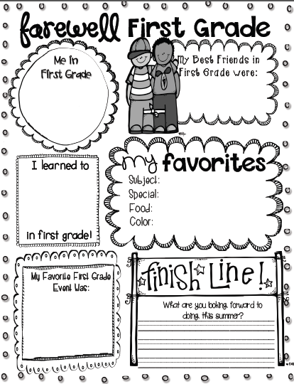 free farewell printables grades k 4 included from a link in this blog post end of year. Black Bedroom Furniture Sets. Home Design Ideas