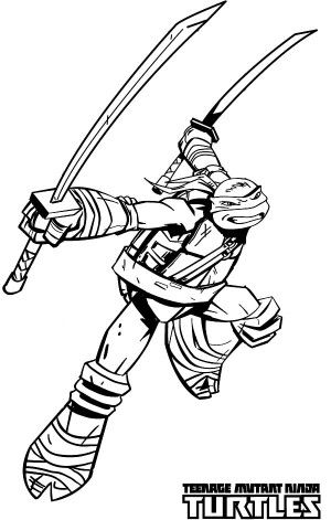 Teenage Mutant Ninja Turtles in Characters Coloring Page - Free ...