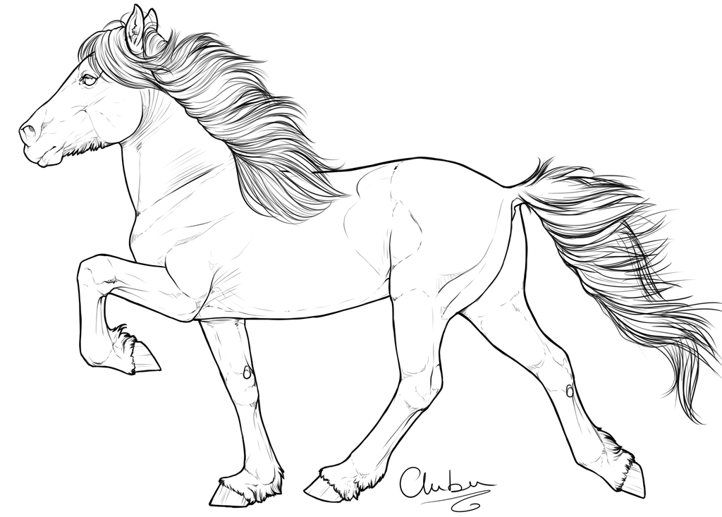 Free Draft Horse Coloring Pages