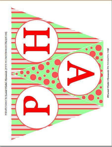 Free Printable Birthday Banners | Sweet Metel Moments ...