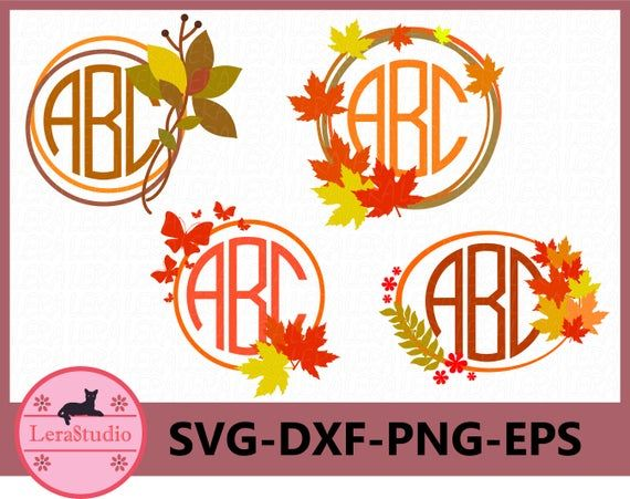 Fall Monogram SVG, Autumn Monogram SVG Files, Monogram ...