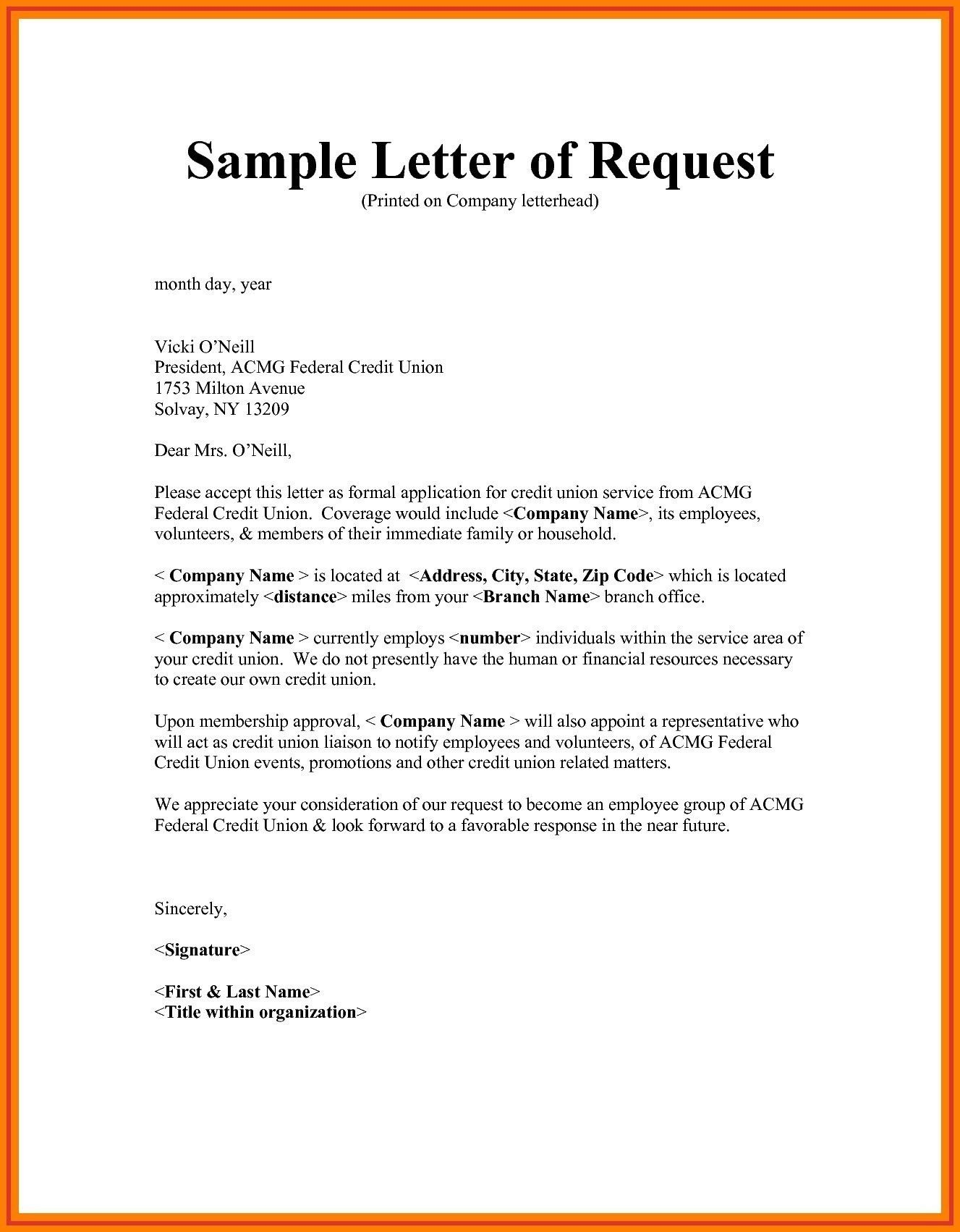 You Can See This Valid Letter Format For Request To