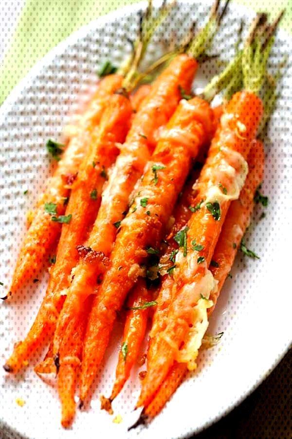 Garlic Parmesan Roasted Carrots - Garlic Parmesan Roasted Carrots – Oven roasted carrots with but