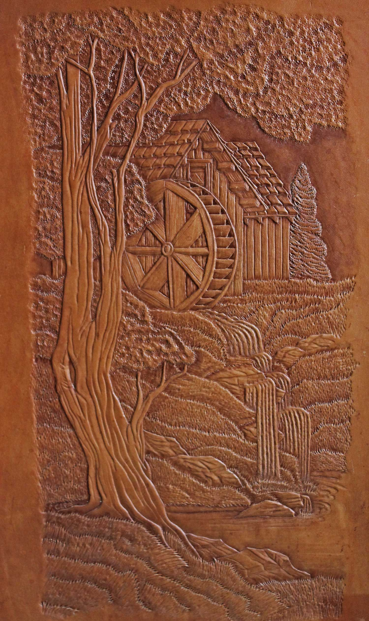 Windmill leather scene carving pinterest