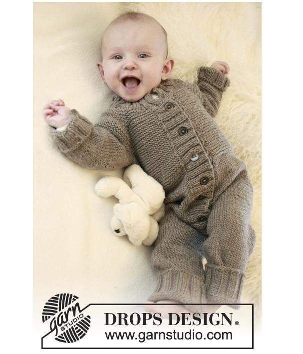 Knit Baby Romper Merino Knit Baby Winter Jumpsuit Handknitted