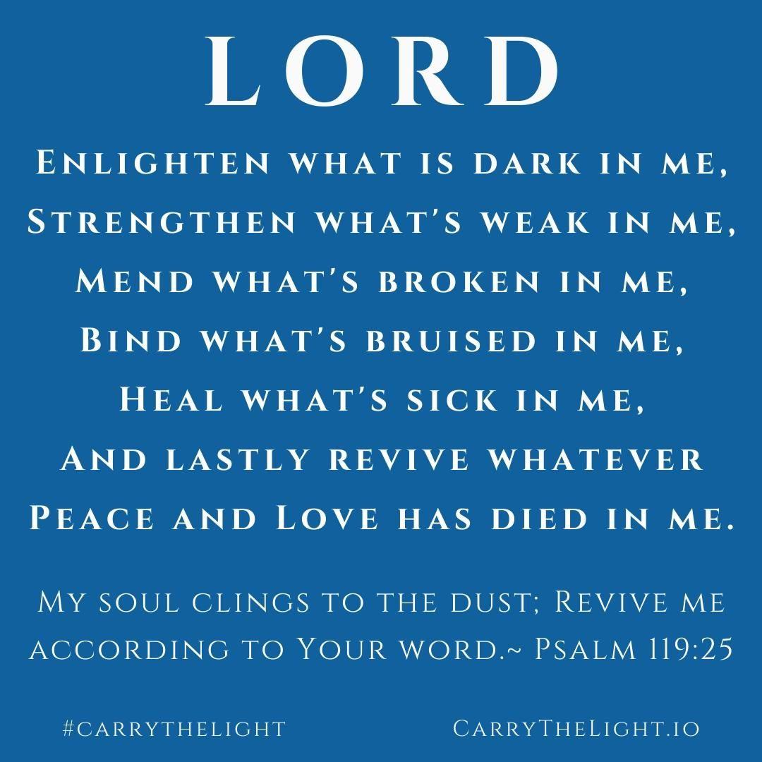 Mend What is Broken In Me