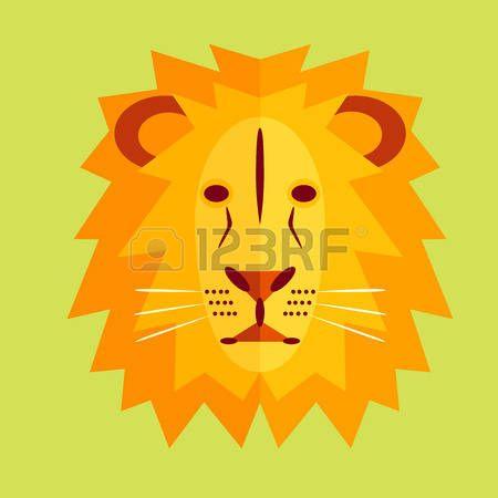 Dessin Lion Geometrique