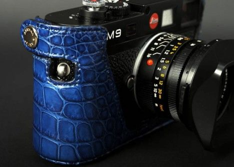 Leica M9 Crocodile Leather Case