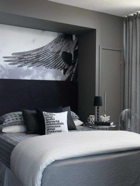 Idee per decorare la camera da letto - Camera da letto in bianco e ...