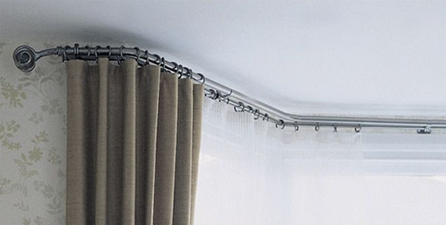 Curtains Ideas bay window curtain rod set : 17 Best ideas about Bay Window Curtain Rail on Pinterest | Bay ...