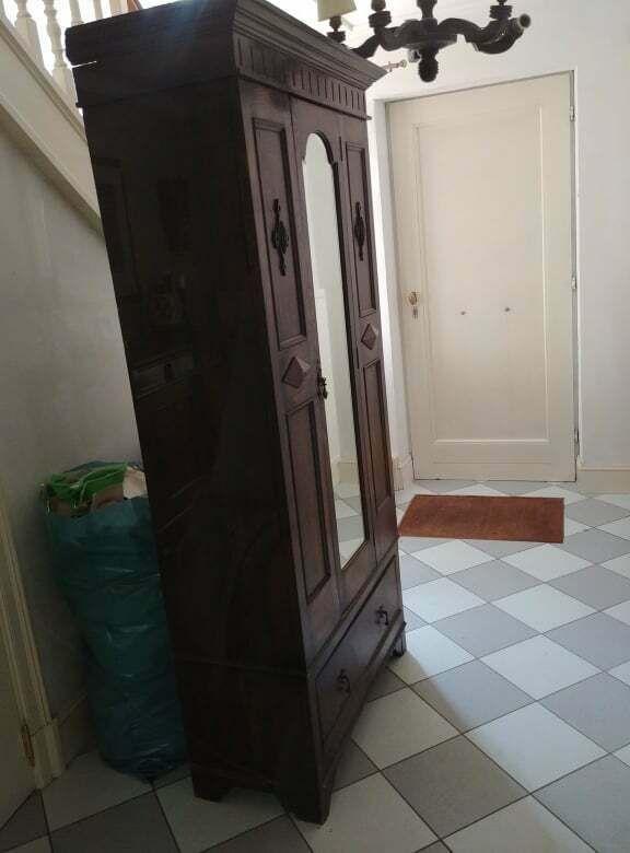Vestiaire De Hall Anglais Garde Robe 97 X 47 Cm H 196 Cm