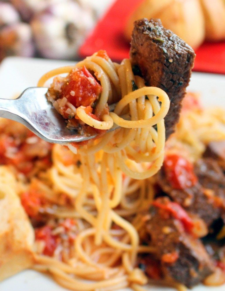 Steak Promodoro Recipe Food Steak Pasta Recipe Recipes