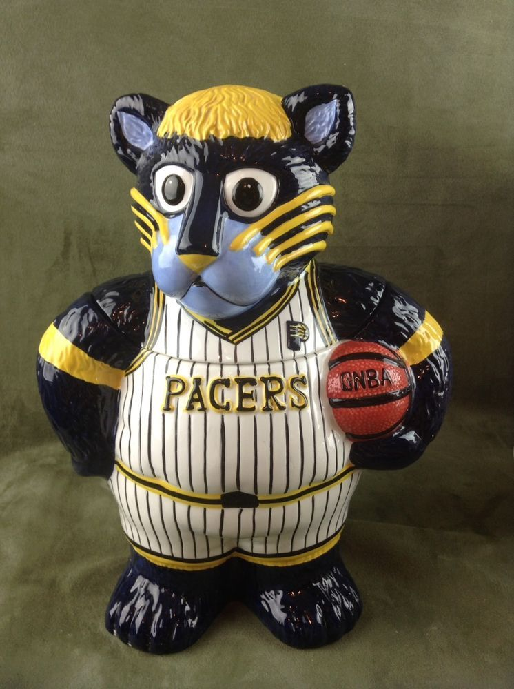Indiana Pacers Basketball Mascot Boomer Panther Cookie Jar Ceramic Collectible Lakers Losangeleslakers Indiana Pacers Basketball Mascot Indiana Pacers