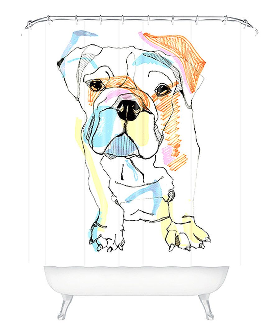 Look At This Sketchy Bulldog Color Shower Curtain On Zulily Today