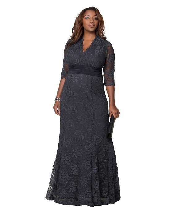 Plus Size Grey Mother of the Bride Dresses