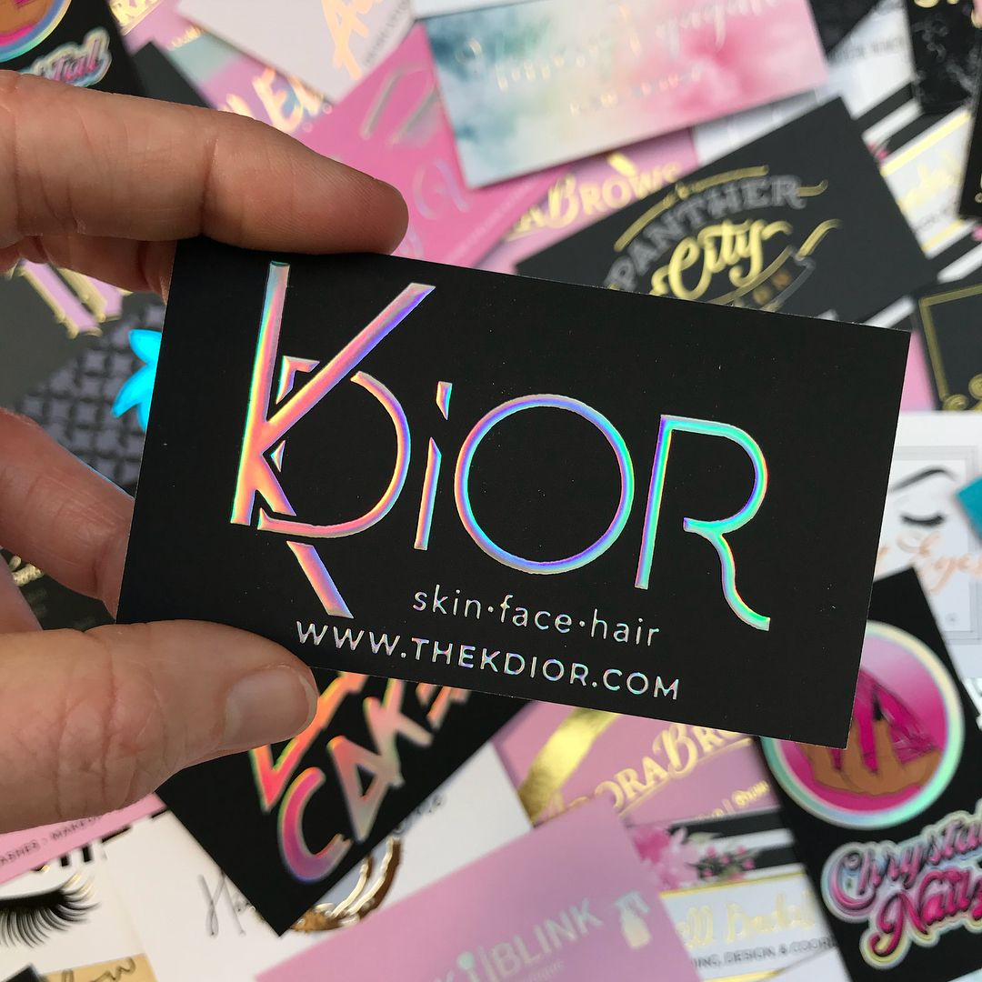 I Absolutely Love My Cards The Entire Process From Placing The Order To Des Salon Business Cards Esthetician Business Cards Makeup Business Cards