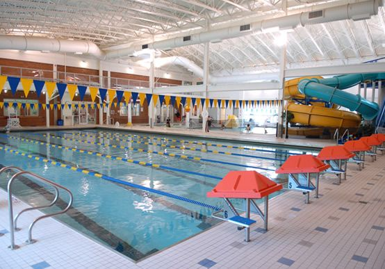 Somerset Ymca Pool By Carlton Pools Inc Features 2 Water Slides And Six Water Features By