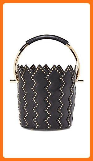 Salvatore Ferragamo Women s Metal Handle Bucket Bag, Nero, One Size -  Shoulder bags ( b4707a6f19
