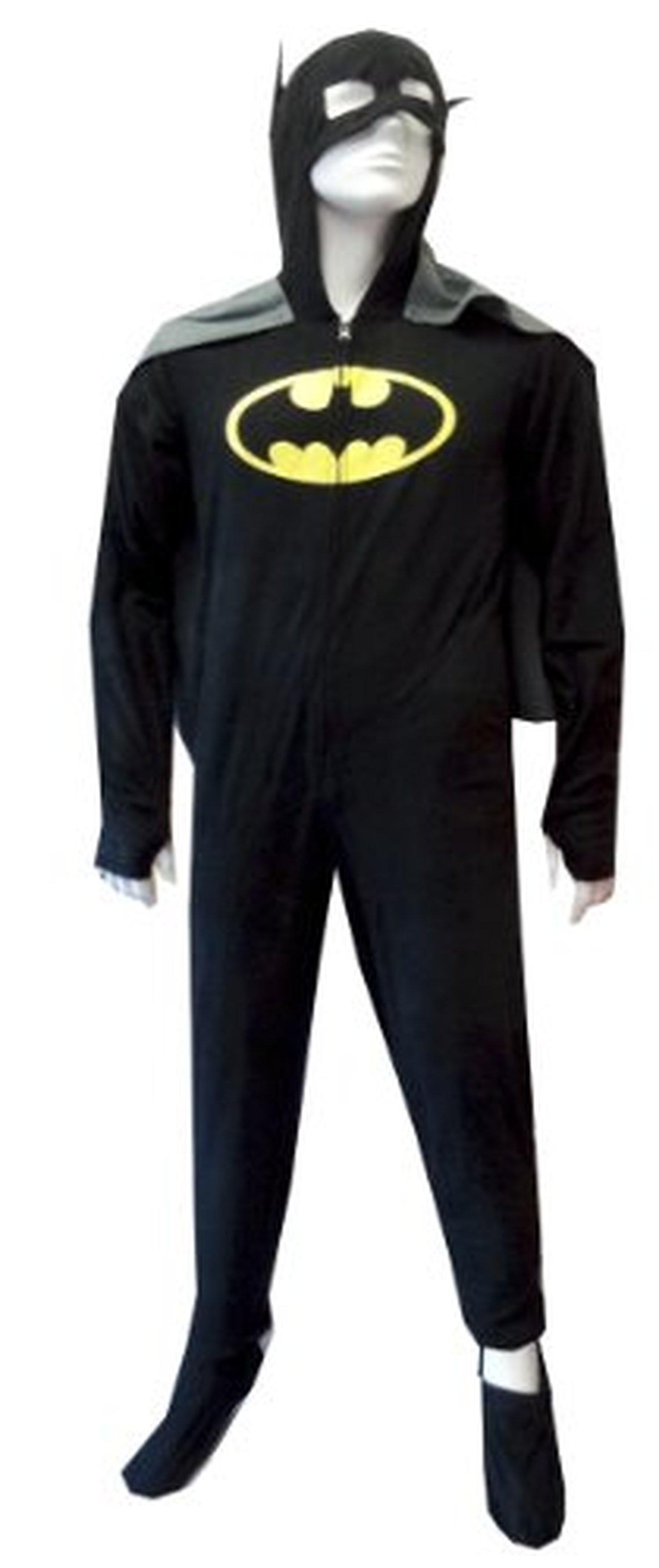 Batman BatGirl Hooded Fleece One Piece Footie Pajama with Cape for men  (Medium) - Brought to you by Avarsha.com d59d40d37