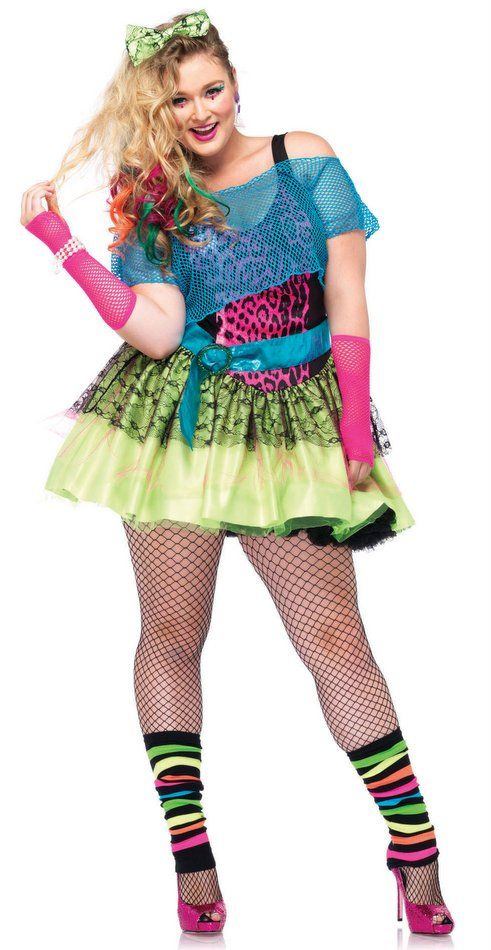 Plus Size Women S Totally Tubular Tina 80 S Costume Candy Apple