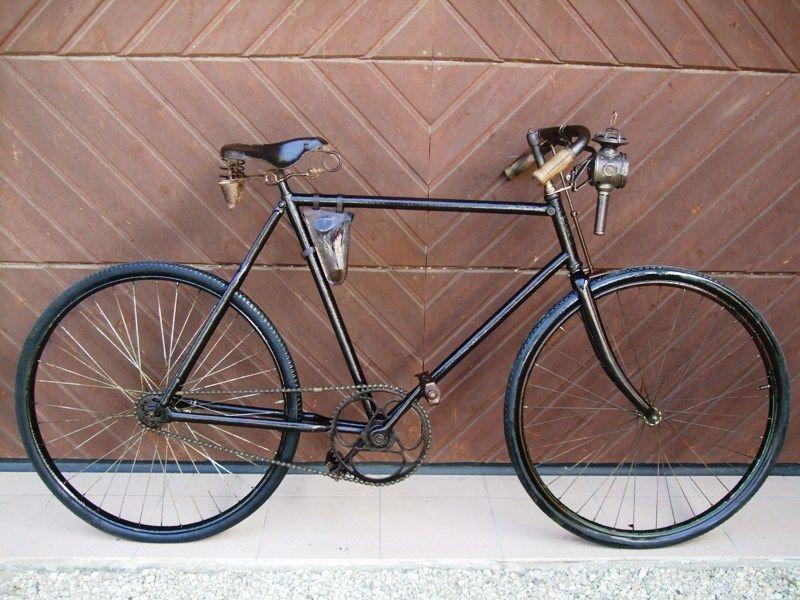 uraltes Oldtimer Fahrrad 1904 Halbrenner Fahrrad großes Kettenblatt ...