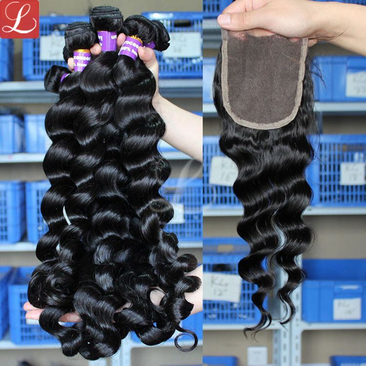Latest Hair Extensions Loose Wave Virgin Remy Hair Bundles With Free