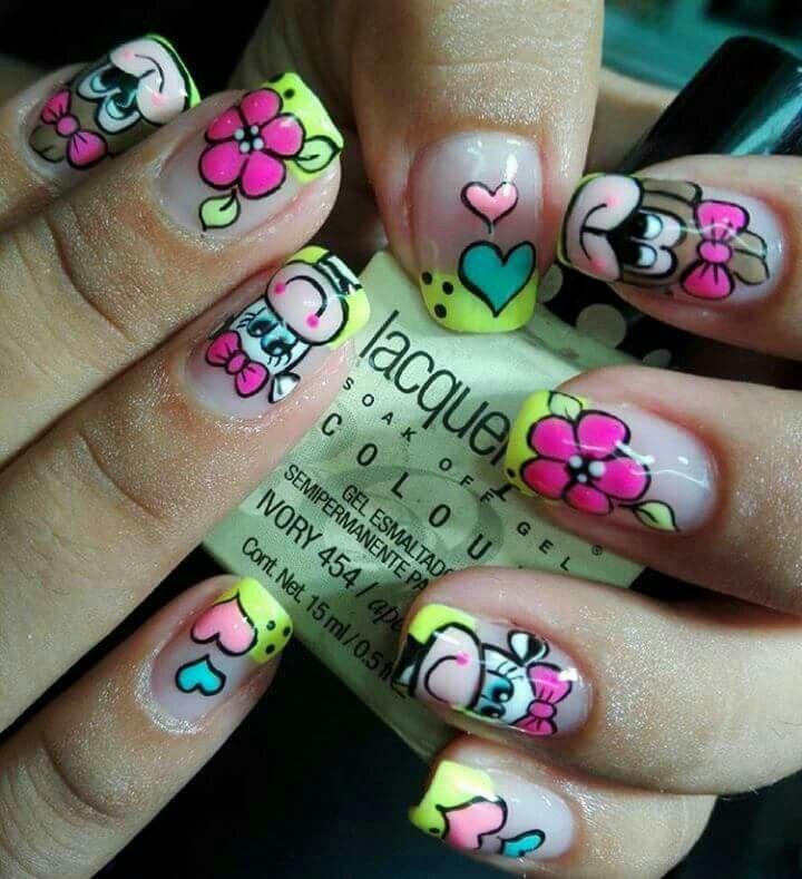 Vaquitas | ideas manicure | Pinterest | Vaca, Diseños de uñas y ...