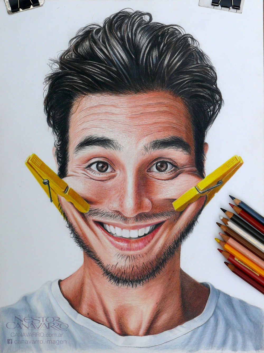 Colored pencils portraits on behance