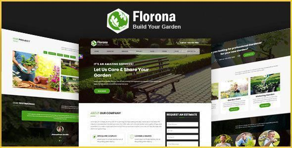 Florona \u2013 Garden and Landscape Design Company Gardening HTML